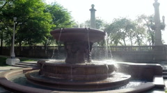 Chicago Grant Park Water Fountain Stock Footage
