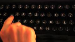 Typewriter Close up Stock Footage