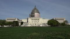 Washington DC Capital Building construction repair front lawn 4K Stock Footage