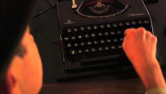 Typewriter - over the shoulder - stock footage