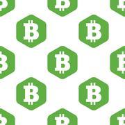Bitcoin symbol pattern Stock Illustration