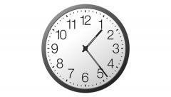 Twenty-four hours time lapse clock in graphic motions. Stock Footage