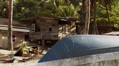 Fishermans House in Trinidad Stock Footage