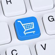 Internet concept online shopping order e-commerce internet shop Stock Illustration