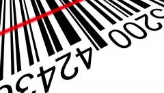 3d Barcode with red laser effect Stock Footage