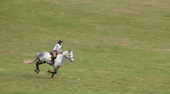 Jockey on Horse in Gallop Stock Footage