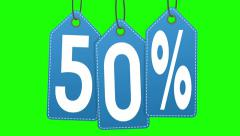 Discount labels. 40% and 50% Stock Footage