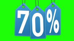 Discount labels. 60% and 70% Stock Footage