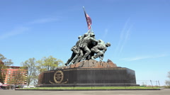 Washington DC United States Marine Corps War Memorial statue 4K Stock Footage
