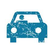 Driver grunge icon - stock illustration
