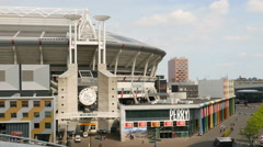 Arena Amsterdam and boulevard Stock Footage