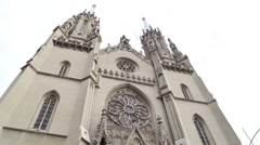 Church of St. Gerhard, Neogothic structure Stock Footage