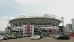 Stock Video Footage of Ajax Amsterdam Arena establishing shot.