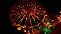 Ferris weel in night Stock Footage