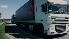 Slow Trucks Traffic - stock footage
