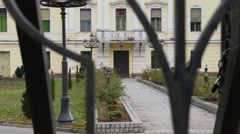 Courtyard of the old palace Stock Footage