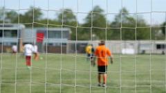 Football match, defocused. Stock Footage