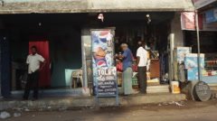 Kiosk shop in India Stock Footage