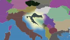 Stock Video Footage of Croatia. Neighbourhood. Administrative