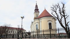 Old church in Vrsac, Serbia Stock Footage