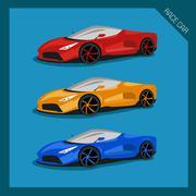 Racing car Piirros