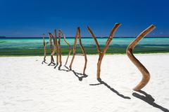 PHILIPPINES, BORACAY - 20 March 2013: Word Friday made of wood on beach Stock Photos