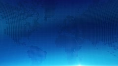 Scrolling world map in loop. Abstract background Stock Footage