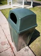 Plastic dustbin outdoors Stock Photos
