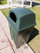 Plastic dustbin outdoors - stock photo