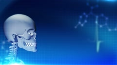 Abstract medical background, skeleton, health care Stock Footage