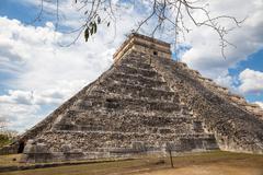 Chichen Itza, mayan pyramid in Yucatan, Mexico Stock Photos