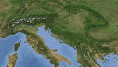 Croatia on maps - Do It Yourself as you like. Neighbourhood - stock footage