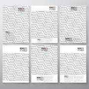 Brochure, flyer or booklet for business, template vector. Recurring cubes on - stock illustration
