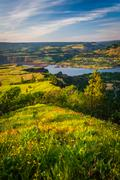 View of the Columbia River from Tom McCall Nature Preserve, Columbia River Go - stock photo