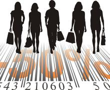 Shopping Discount, fifty percent Stock Illustration