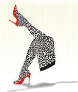 Stockings with cheetah pattern - stock illustration