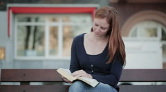 Devotional Time in the City Stock Footage
