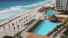 Luxury hotel Bay View Grand Porto Fino with a swimming pool Stock Footage