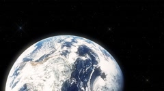 Asteroid Going to Hit Earth Close Up Stock Footage
