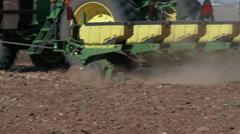 Eight row cotton planter at work Stock Footage