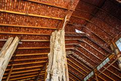 Wooden roof structure Stock Photos
