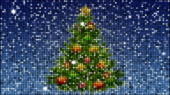 Christmas tree  - seamless looping with reflectors and sparkles - stock footage