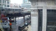 Chicago Loop Elevated L Train - View from Window - Part 3 - stock footage