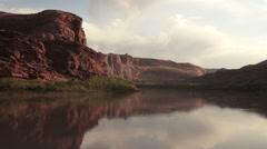 Colorado River Flows Utah Wilderness Desert Southwes - stock footage