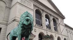 Art Institute Entrance Stock Footage