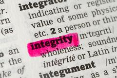 Integrity  Dictionary Definition Stock Photos