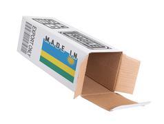 Stock Photo of Concept of export - Product of Rwanda