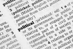 Political  Dictionary Definition - stock photo