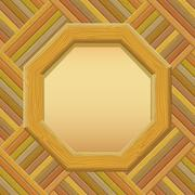 Wooden Framework with Paper on a Wall - stock illustration