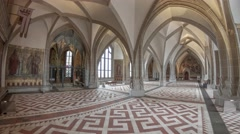 The Albrechtsburg Meissen Cell Vault Hall Stock Footage